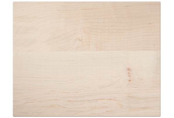 Maple wood cutting board with rounded corners