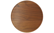 Large Round Wood Cutting Board with Juice Groove